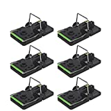 COSCOV Mouse Traps That Work, 6 Pack Large Mice Traps, Mouse Snap Trap (Large-Black &Green)