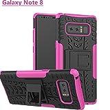 TOPBIN Funda para Galaxy Note 8, 2 en 1, Suave TPU + PC Duro Resistente a los arañazos y a los Golpes, diseño Creativo de Cuerpo Completo, protección híbrida para Samsung Galaxy Note8