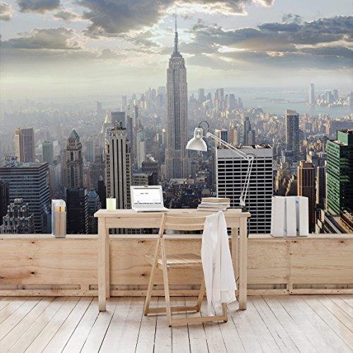 Apalis Vliestapete Sonnenaufgang in New York Fototapete Breit | Vlies Tapete Wandtapete Wandbild Foto 3D Fototapete für Schlafzimmer Wohnzimmer Küche | mehrfarbig, 98541