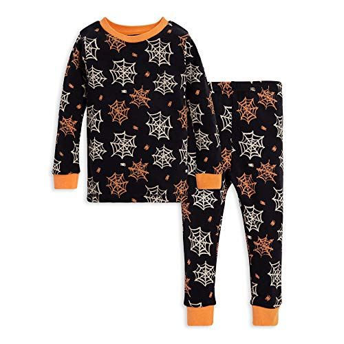 Burt's Bees Baby Unisex Baby Pajamas, Tee and Pant 2-Piece PJ Set, 100% Organic Cotton, Itsy Bitsy Spider, 5 Years