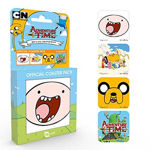 empireposter Adventure Time Mix Ensemble de sous-Verres 10 x 10 cm 4 pièces dans Emballage Cadeau, Coaster – Set