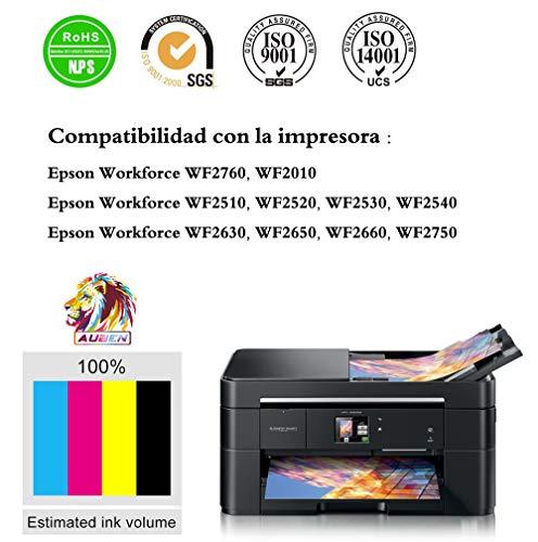 AUBEN 16XL para Epson 16 XL Cartuchos de Tinta Compatibles con Workforce WF-2630 WF-2750 WF-2540 WF-2530 WF-2510 WF-2520 WF-2650 WF-2010 WF-2660 WF-2760 (6 Negro, 3 Cian, 3 Magenta, 3 Amarillo)