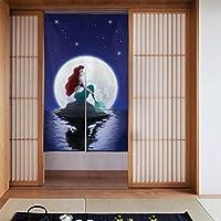 のれん おしゃれ 仕切り 遮光 目隠し 布のれん 暖簾 リトル マーメイド 間仕切り ロング 玄関 キッチン ギフト 86×143cm