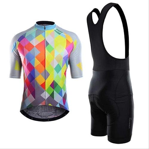 MUYSMY Pour des hommes Cyclisme Maillots courtes Hommes vélo Costumes 3D Gel rembourré Bib Court M PIC Couleur