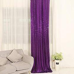 Purple Sequin Curtains Drape Panels Backdrops