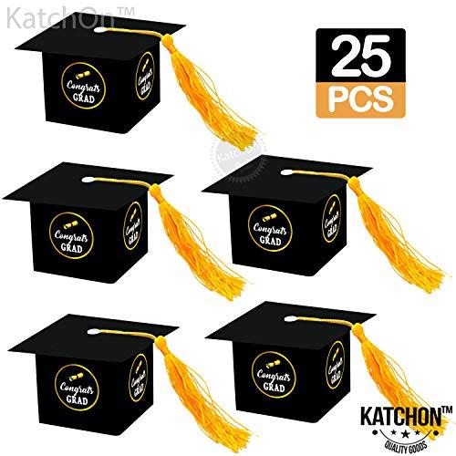 Graduation Party Decorations Gift Box - Congrats Grad Cap Shape Treat Boxes   Graduation Party Favor   Graduation Gift Box   Graduation Candy Box for Chocolate   Favors for Kids, Guests. Grad   25 ct