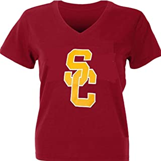 Profile Varsity University of Southern California Women's Plus Size USC Trojans Logo V-Neck T-Shirt