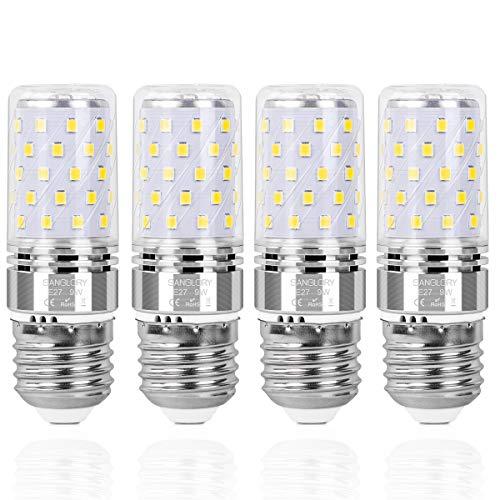 SanGlory 4er Pack E27 LED Lampen, 9W 950LM Kaltweiß 6000K E27 LED Maiskolben ersatz 80W E27 Halogenlampe, Energiesparlampe E27 Mais Birne, Kleine Edison-Schraube Kerze Licht E27 Nicht Dimmbar