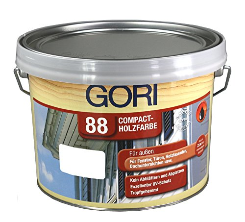 GORI 88 Compact-Holzfarbe 2,5L 8855 Polarweiss Holzfarbe Deckend