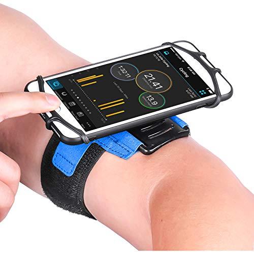 Newppon Sports Handy Armband :mit Schlüsseltaschenhalter und 180° drehbar für Apple iPhone 11 Pro Max Xs XR SE 8 7 6 6S Plus Samsung Galaxy S10 S9 Note Google Pixel, für Outdoor Fitnessgeräte