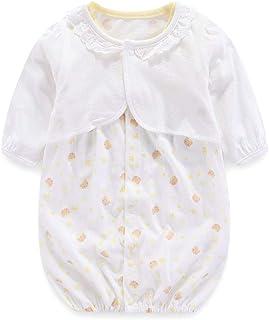 Boo.Kabee ベビー服 半袖 ツーウェイオール ロンパース + カーディガン 2セット 新生児 女の子 春夏 50-60cm BKB018H
