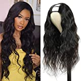 PANEWAY U Part Wig Body Wave Human Hair Wigs 150% Density 10A Brazilian Remy Hair Clip in Half Wig For Black Women U Part Hair Extensions Natural Color 14 inch