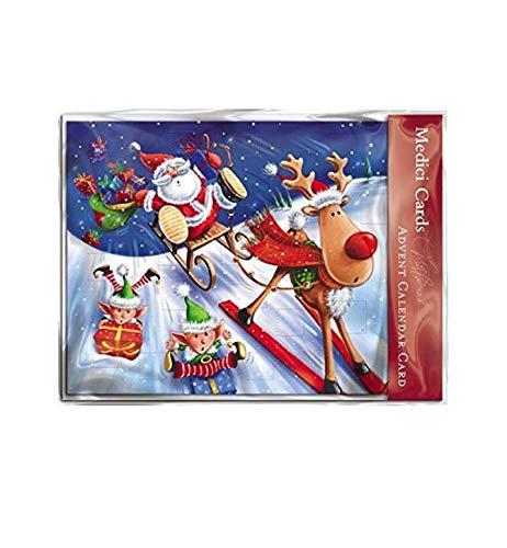 Tarjetas navideñas (MED5828)con diseño de calendario de Adviento