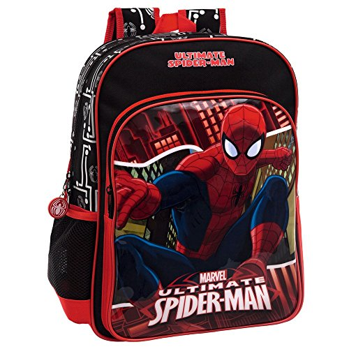 MARVEL Spiderman Set de Sac Scolaire, 40 cm, 15.6 L, Rouge 44523A1