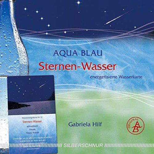 Sternen-Wasser: Wasser-Energiekarte, schenkt Freude/Happy-Wasser, blau+silber+weiß