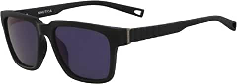 Nautica Polarized Matte Square w/ Mirror Lens (Black)