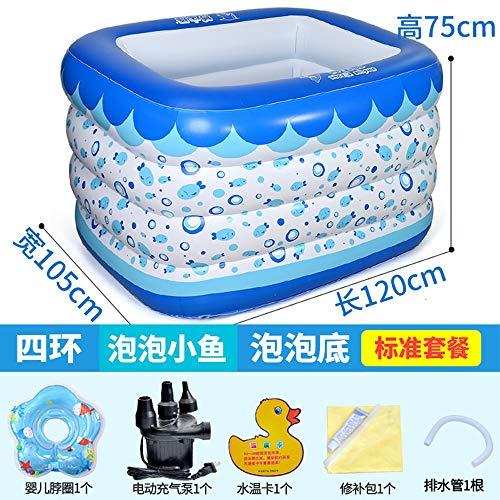 AXWT Folding aufblasbare Badewanne, elektrische aufblasbarer Badebottich-Durable Erwachsener SPA Bad, verdicken weicher Unterseite Kinderpool (Color : EIN)