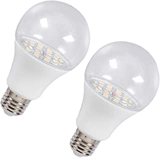 Baosity 2 Pieces E27 LED Indoor Plants Grow Light Bulbs for Rose Warm White