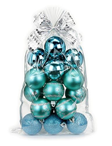 20 pezzi palle di Natale 6 cm in plastica // PVC palline di Natale decorazione albero drachensilber...