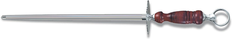 Victorinox Honing Steel 14-Inch Round Regular Cut, Dark Wood Handle