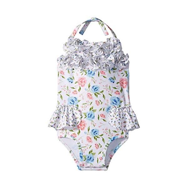Mud Pie Girls' Floral Swimsuit