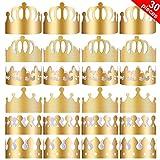 Yaomiao 30 Pièces Couronnes en Papier de Fête Chapeaux de Couronne d'or Couronne Roi pour la Fête d'anniversaire Accessoires de Photo