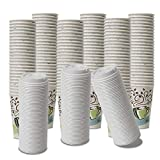 Dixie PerfecTouch WiseSize Coffee Design Insulated Paper Cup, 16oz Cups and Lids Bundle (16 oz, 150 Cups, 150 Lids)