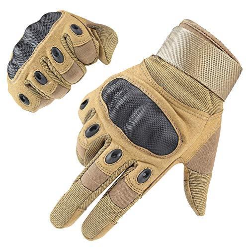 HIKEMAN Handschuhe für Männer und Frauen Touch Screen Hart Knuckle Handschuhe für Outdoor Sport und Arbeit geeignet für Radfahren Motorrad Wandern Klettern Lumbering Heavy Industry (Khaki, X-Large)