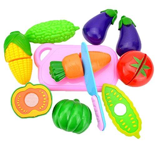 JUNGEN Jeu D'imitation Coupe Fruits Légumes Jeu enfants Kid Jouet éducatif a Decouper de Cuisine Pizza a Decouper pour les Enfant Bébés a la Maternelle école 8pc