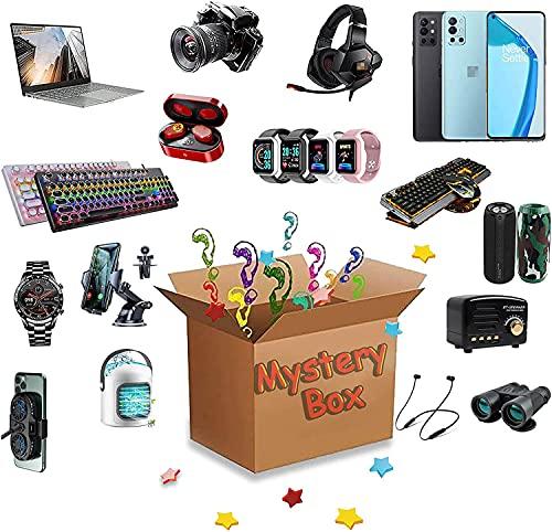 Random Mystery Box Eletrônicos,Electronic Blind Box,Mystery Box,Electronic Blind Box,Contém Presentes Inesperados,Como Drones,Relógios Inteligentes,Gamepads,Câmeras Digitais Mais 1-2 Produtos
