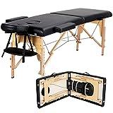 Best Portable Massage Tables - Yaheetech Black Portable Massage Table Folding Spa Beauty Review