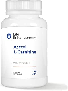 Life Enhancement Acetyl L-Carnitine | Improve Mitochondrial Function | 1000 mg | 45 Servings