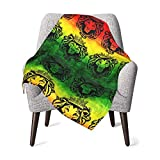 Rasta Lion Cool Blanket for Baby Boy Or Girls Baby Blanket Toddler Nap Mat Bed Blankets-Throw Blanket Travel Blanket Pet Blanket Sleeping Blanket