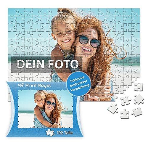 Print Royal Foto-Puzzle 24 - 1000 Teile in inkl. hochwertiger Verpackung - mit eigenem Foto Bedrucken - Puzzle selber gestalten - 192 Teile in Kartonverpackung