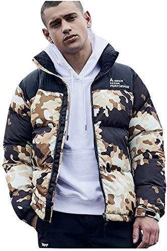 Men's Zipper Jacket Puffer Down Coat Long Sleeve Lightweight Warm Soft Winter Outwear