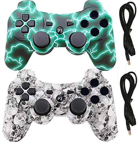 Wireless Controllers for PS3 Playstation 3 console (GreenFlash and...