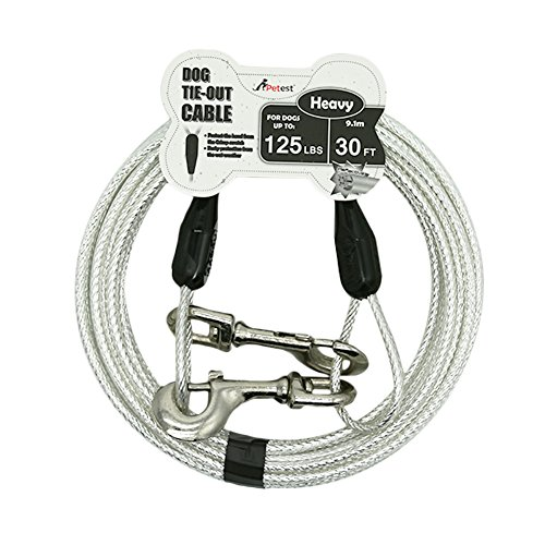 Petest 30ft Reflective Tie-Out Cable for Heavy...