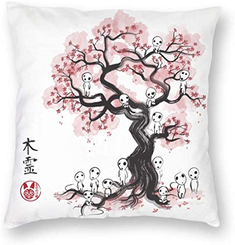 NR Aquarell Sumi-e Kikis Lieferservice Square Pillow Cowers Home Bed Room Innendekoration (5 Größen)