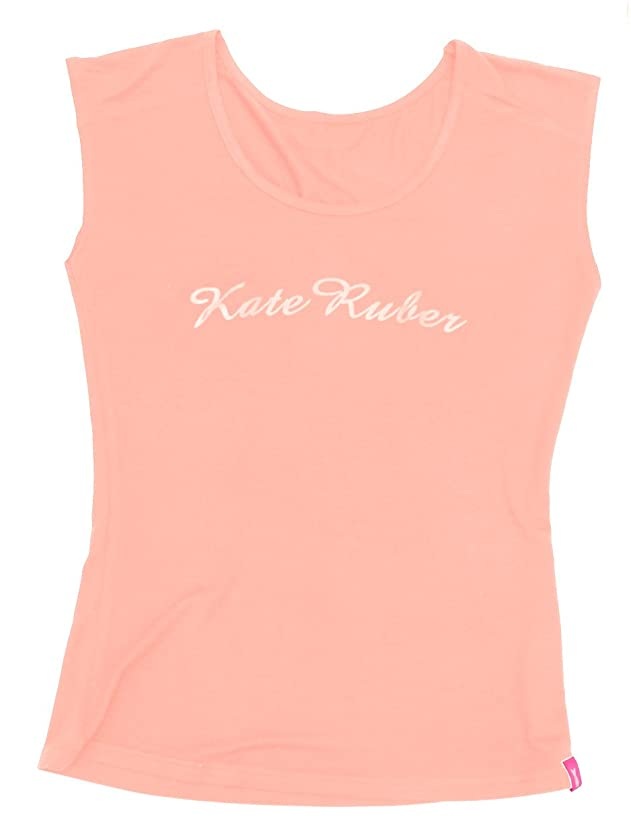 テラスエレガント名前を作るKate Ruber (ケイトルーバー) ヨガTシャツ ピンクM-L