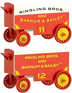 Circus Wagon 2-Pack - Ready to Run -- Ringling Bros. and Barnum & Bailey #11, 12 (white, red)