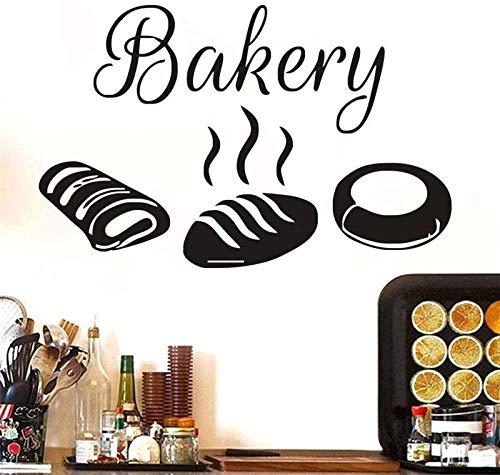 Etiqueta engomada de la pared de la cocina para hornear calcomanía decorativa de pan hueco vinilo adhesivo de pared impermeable 58x91cm