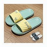 LDH 2 Pares de Zapatos de Playa Y Piscina de Unisex, Sandalias de Playa de Dos Colores, PVC Cómodas, EVA Silent Window (Color : D, Size : Ms40-41+Men44-45)