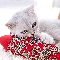 XYACM猫のおもちゃ子猫のおもちゃの盛り合わせ 魚の形の猫のパズル玩具子猫枕のおもちゃを噛み猫のおもちゃおかしいインタラクティブ (Color : Red2)