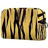 FURINKAZAN Bolsa de maquillaje de viaje de tigre marrón para artículos de tocador, bolsa de maquillaje para hombres y mujeres