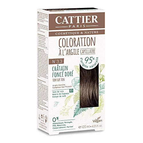 Cattier Kit Coloration Capillaire à l'Argile - N°3.3 Châtain Foncé Doré