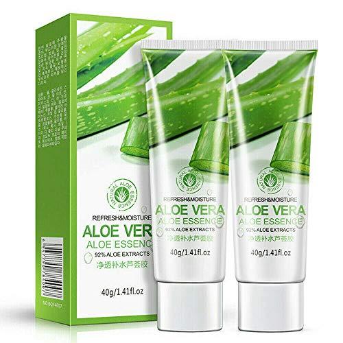 2Pcs Aloe Vera Soothing Moisture Gel for Sunburn, Acne, Boost Your Skins Defense 100% Natural Pure Aloe Vera Gel 40g