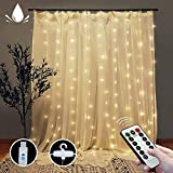 Curtain String Lights with Remote, LT 300 LEDs Window Curtain Fairy Lights 8