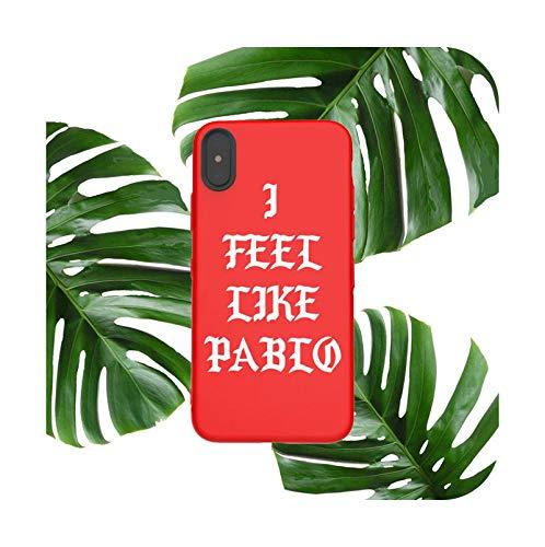 Funda suave del teléfono para iPhone X XS MAX XR 8 7 6 S Plus mate silicona casos moda Pablo coque funda capa-rojo-Para iPhone 6 6s