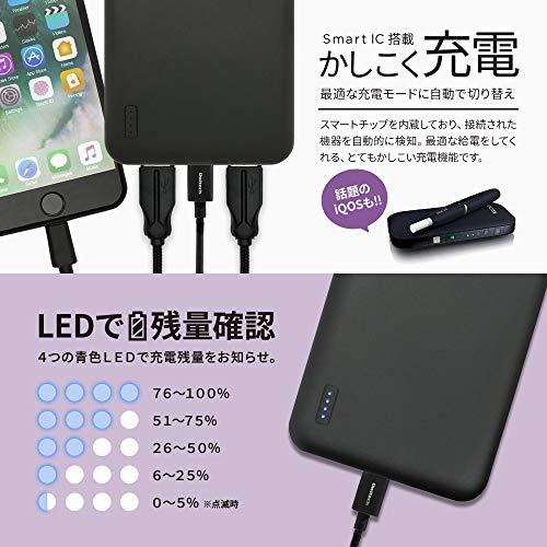 オウルテックモバイルバッテリー20000mAh大容量充電器2.4A高出力急速充電iPhoneスマートフォンiPadタブレットWi-Fiルーターブラック1年保証OWL-LPB20001-BK