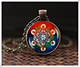 Metatron's - Colgante de cubo, collar de cubo de Metatron, collar de geometría sagrada, collar geométrico, joyería para hombres, un hermoso regalo